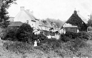 Sorn Main Street, looking East from 'The Greyhound', pre 1905