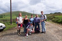 2003 Hike to Crash site. The wellies are incase of adders (snakes) !!!
